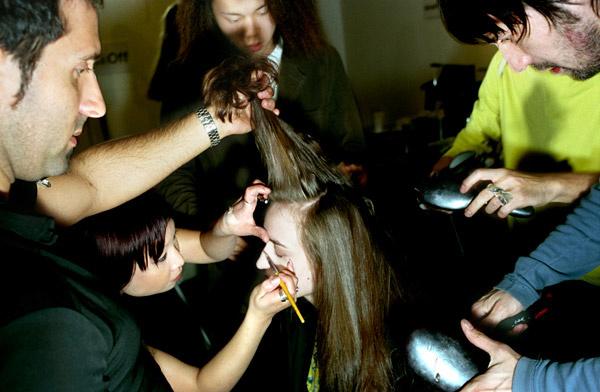 London Fashion Week - Getting Hair done