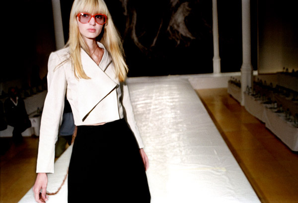 London Fashion Week - Model with glasses